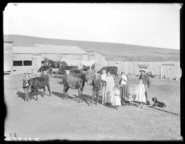 One factor behind a proposed division of Cherry County in 1911 was the distance of isolated ranches, such as that of Charles S. Hoyt (above) near Pullman, from the county seat at Valentine. NSHS RG2608-3297