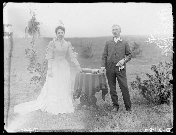 Mr. and Mrs. L. N. Beager were married in Custer County, Nebraska, on August 13, 1889. NSHS RG2608-2182