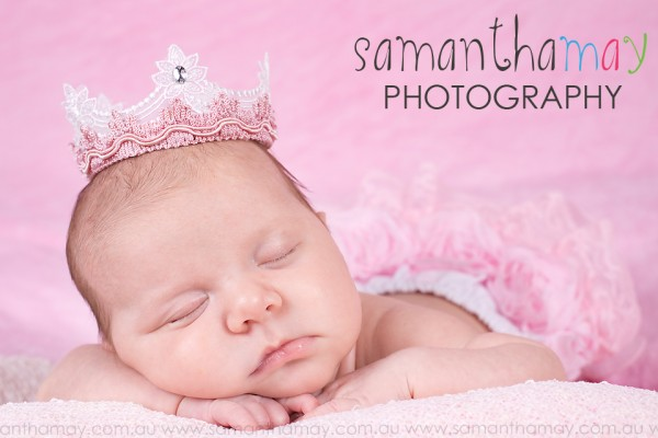 perth baby photographer, perth newborn photographer, in studio, sleeping girl