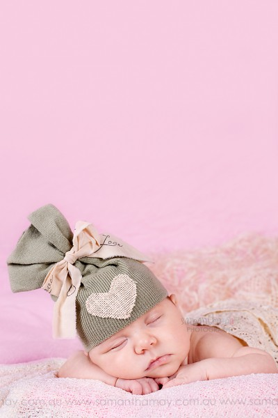 perth baby photographer, perth newborn photographer, in studio, up cycle hat