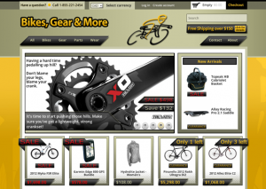 The Bikes, Gear & More Home Page.