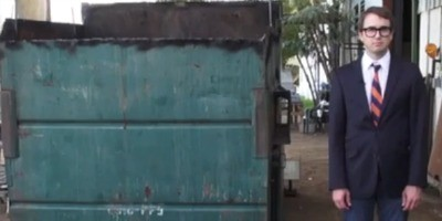 Professor lives in dumpster to teach others about sustainable living