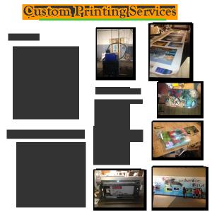 Custom printing menu