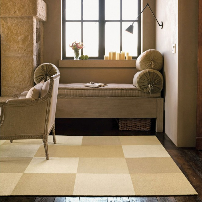Home Interior, Using Carpet Tiles to Make the Floor Look Nice: Brown Carpet Tiles