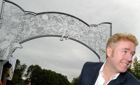 Mark Millar and the Captain Coatbridge superhero archway