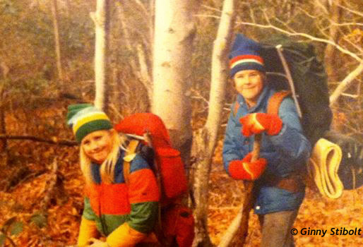 In the 70s with my own kids out in the woods.