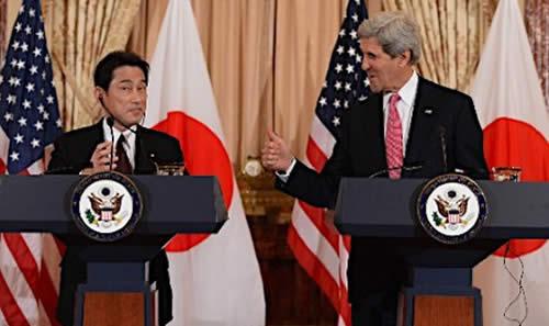 日米外相会談「中国の防空識別圏設定認めない」毅然とした態度で対応する事で一致