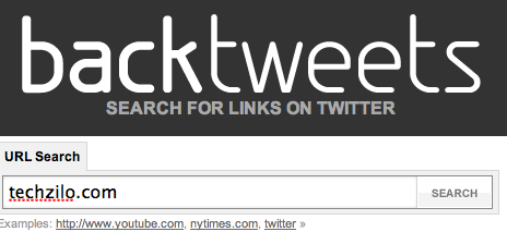 Backtweets find links to site from Twitter