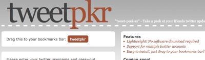 Tweetpkr Twitter sidebar bookmarklet