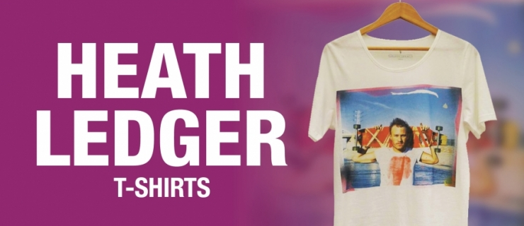 Heath Ledger T-Shirts - be quick limited stock left!