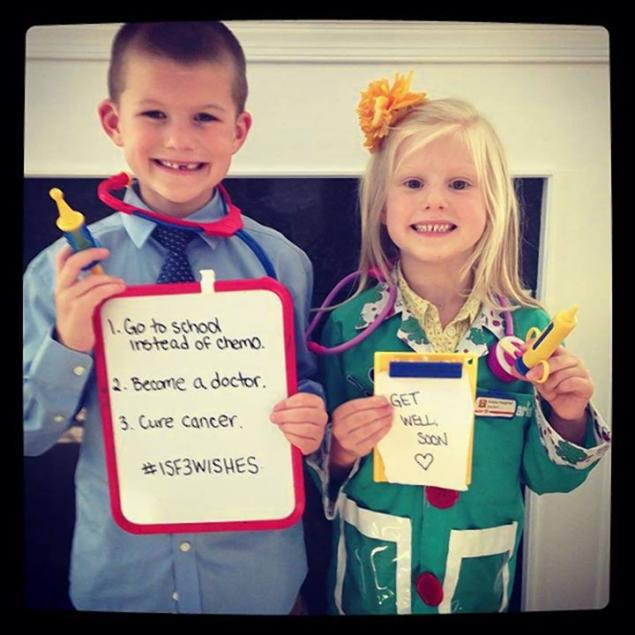 Two kids taking part in the campaign reveal their wishes for children who have cancer.