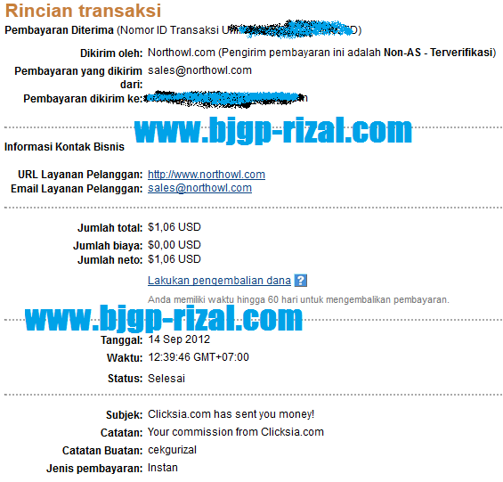 Cash out dar PTC Clicksia