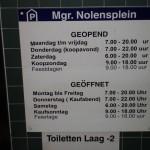 Öffnungszeiten der Tiefgarage Nolensplein