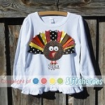 Girls ST Ribbon Turkey Shirt or Onesie