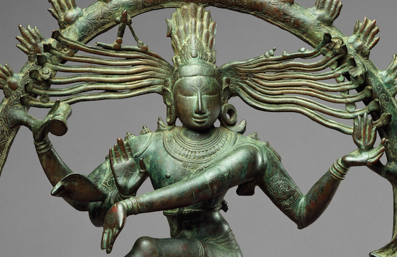 Shiva as Lord of the Dance (Nataraja), c. 11th century, Copper alloy, Chola period, 26 7/8 x 22 1/4 in. / 68.3 x 56.5 cm (The Metropolitan Museum of Art) (detail)