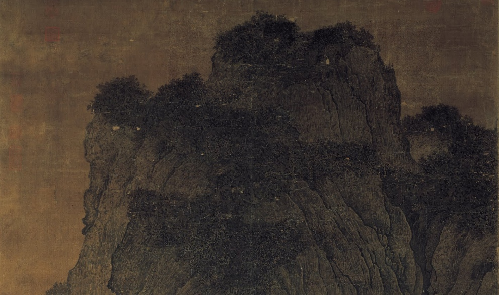 Fan Kuan, Travelers Among Mountains and Streams (detail)