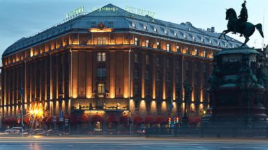 PHOTO: The luxurious, $20,000 per night Tsar Suite at the Hotel Astoria has views over St. Issacs square in St. Petersburg, Russia at the heart of the citys fashionable Admiralteysky District.