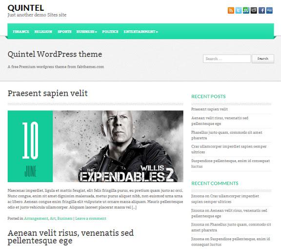 Quintel En İyi WordPress Temaları 2013 (35 Adet)