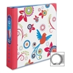 Avery Durable Pink Floral Design Binder AVE18760