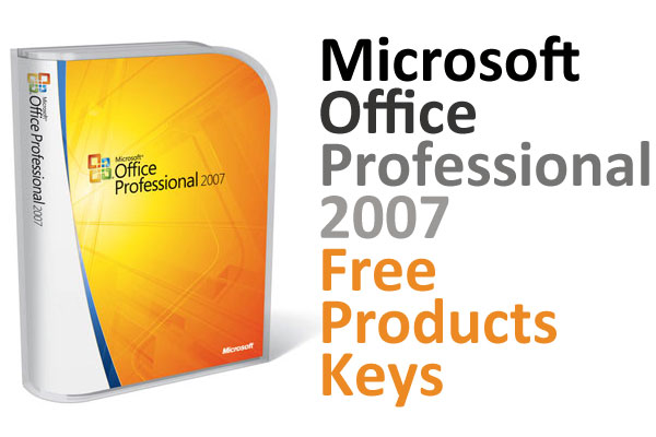 Microsoft Office Professional 2007 Free Products Keys