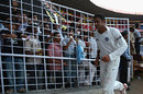 Anil Kumble walks back to the pavilion after his final Test in his hometown Bangalore, India v Australia, 1st Test, Bangalore, 5th day, October 13, 2008