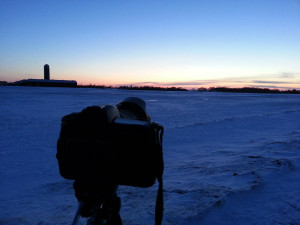 Camera all set up and ready to photograph PanSTARRS!