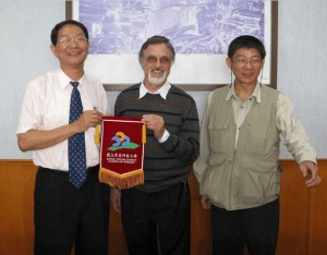 Klaus Schönitzer with colleagues in Taiwan