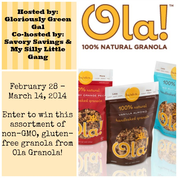 Ola Granola Giveaway Feb 28 - March 14