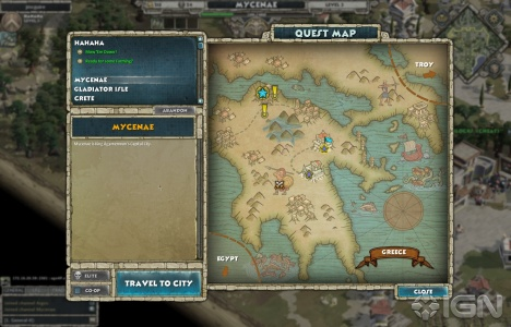 Choosing which quest to play is just a matter of selecting from the map.