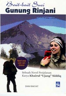 Cover Novel Bait bait Suci Gunung Rinjani