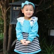 女童韩版春装外套2013童装中长款外套儿童风衣大衣小女孩衣服