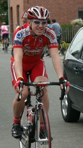 Gregg Germer in 2005 with the Flanders Pro Cycling Team - photo courtesy Gregg Germer