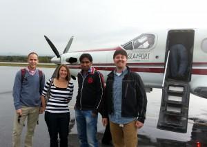 Doug, Carolyn, Jogendra, Ryan, and the Pilot