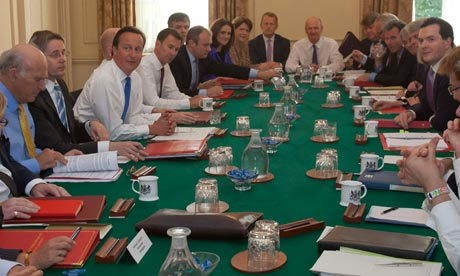 Prime Minister David Cameron chairs the first cabinet meeting after a ministerial reshuffle in 2012