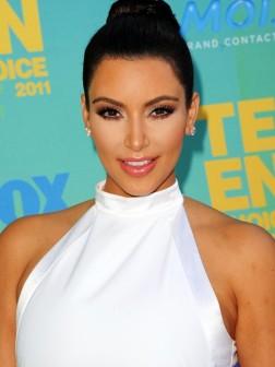Kim Kardashian ballerina bun hairstyle