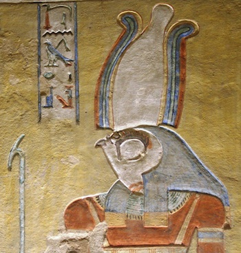 Horus in the tomb of Khaemwaset