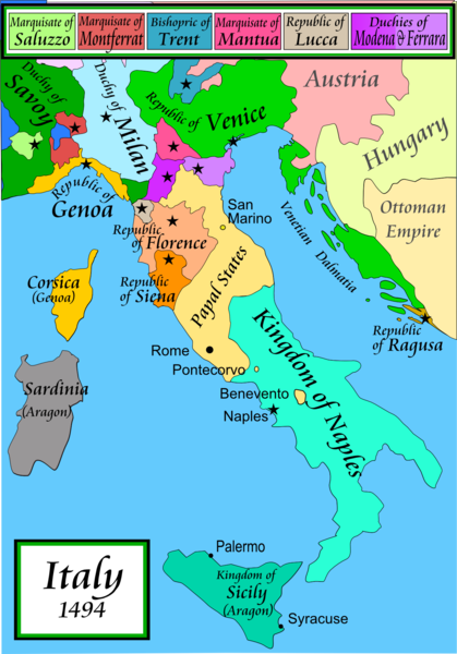 Map of Italian City-States