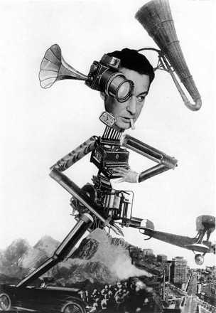 Umbo (Otto Umbehr), The Roving Reporter, photomontage, 1926