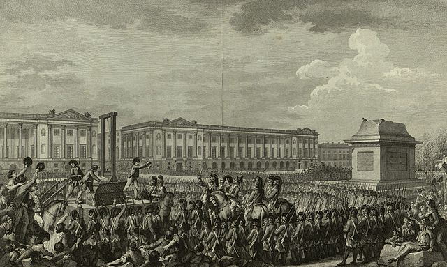 Isidore-Stanislas Helman's print after Charles Monnet's drawing of the execution of Louis XVI, Journée du 21 Janvier 1793