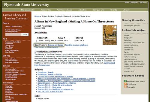 Google Book Search integrated in Scriblio