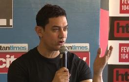 Aamir Khan at HT city