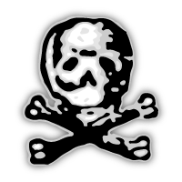Our Skull and Crossbones logo modeled after the one used by the original Maryland Gazette to protest the Stamp Act in 1765.