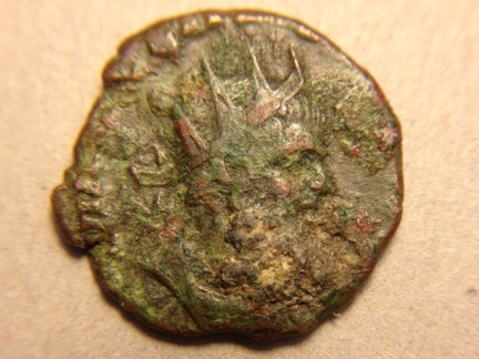 Uncleaned Roman bronze coin