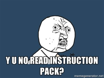 read instruction pack