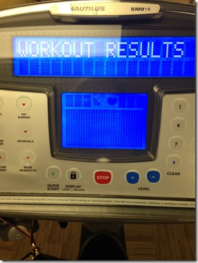 workout results