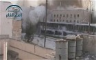 Huge explosion brings down building in Aleppo