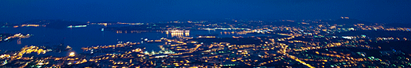 Faron: Night view of Toulon