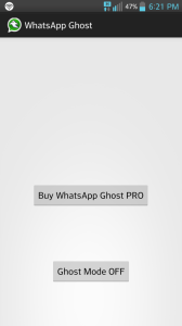 WhatsApp Ghost app
