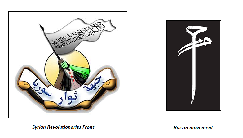 The Syrian Revolutionaries Front and the Hazzm movement.