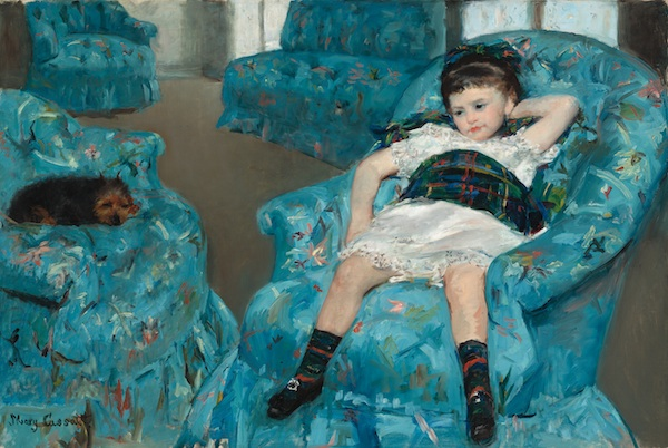 Mary Cassatt, Little Girl in a Blue Armchair, 1878, oil on canvas. COURTESY NATIONAL GALLERY OF ART, WASHINGTON, COLLECTION OF MR. AND MRS. PAUL MELLON.